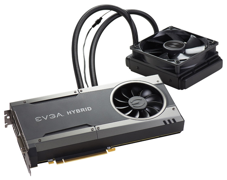Видеокарта EVGA GeForce GTX 1080 FTW Hybrid Gaming